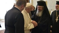 Pope Francis receives the Apostoliki Diaconia of the Orthodox Archdiocese of Athens