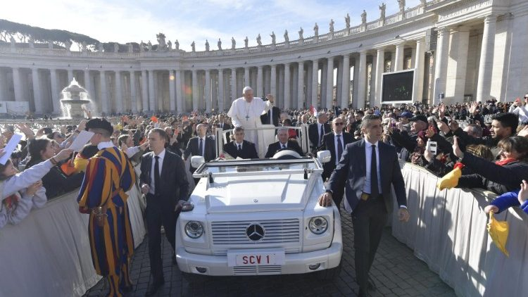 Pope Francis at the General Audience of Feb. 27, 2019.
