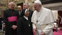 Pope Francis meets participants commemorating the 50th anniversary of the death of Cardinal Augustin Bea