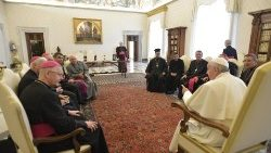 Pope Francis meeting the bishops of Central Asia in the Vatican, March 1, 2019.