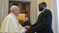 Pope Francis receives the President of the Republic of South Sudan