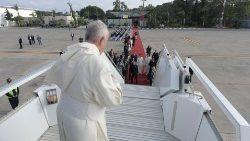 ceremonia despedida Papa Francisco Marruecos viaje apostólico