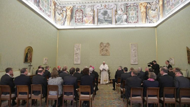 Pope addresses a delegation of German journalists