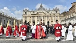 Pope Francis celebrates Mass on Palm Sunday