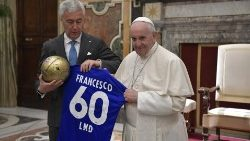 Pope Francis receives an Italian Association for amateur football