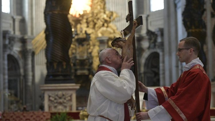 Pope Francis celebrates Good Friday Passion of Our Lord