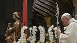 Pope Francis celebrates the Easter Vigil