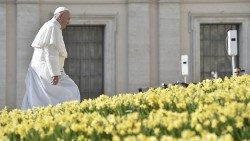 Pope Francis arrives for his weekly General Audience
