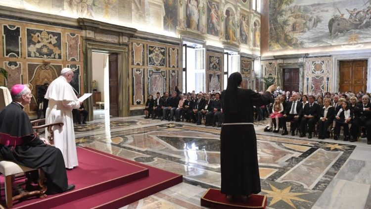 Pope Francis' audience with Italian Federation of Associations for the Deaf (FIAS)