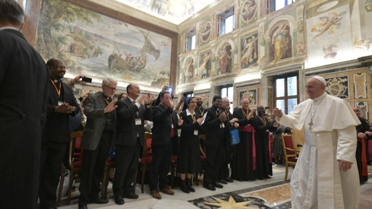 Pope Francis meets with Catholic Biblical Federation
