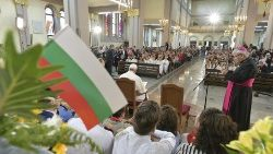 Pope Francis meeting with Bulgaria's Catholic Community in Church of St Michael the Archangel in Rakovsky