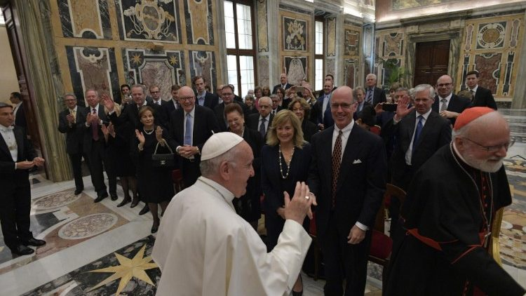 Pope Francis with members of The Papal Foundation