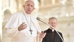 Pope Francis speaks at the weekly General Audience