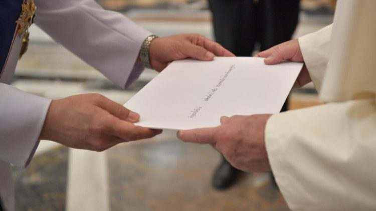 Pope Francis receives new Ambassadors' credential letters