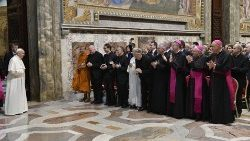 Pope Francis with members of the Foundation Centesimus Annus Pro Pontefice