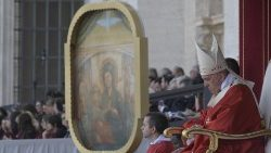 Pope Francis celebrates Holy Mass on the eve of Pentecost