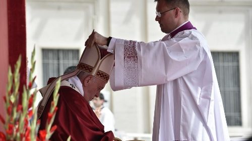 Pope Francis celebrates Holy Mass on the feast of Pentecost