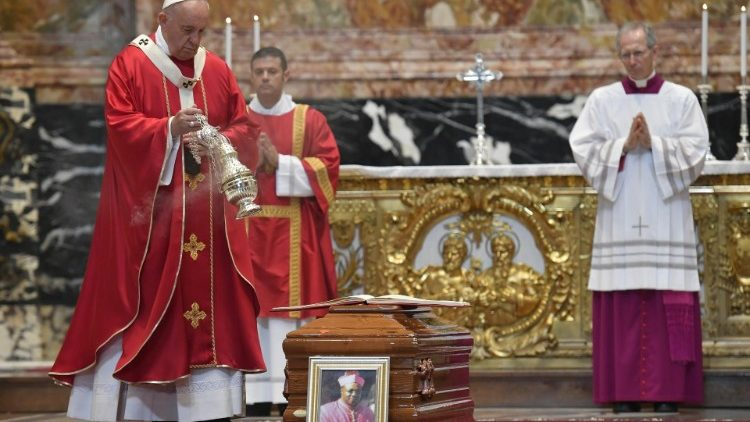 Pope Francis' homily at Funeral Mass for Archbishop Léon Kalenga - Vatican News