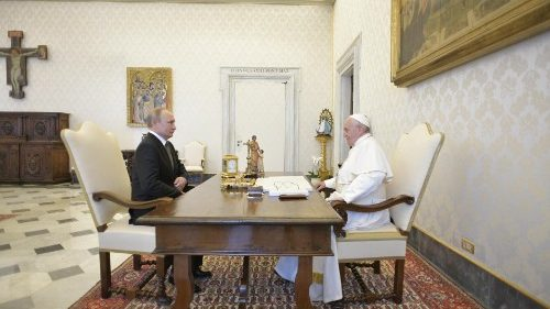 Pope receives Russian president in audience