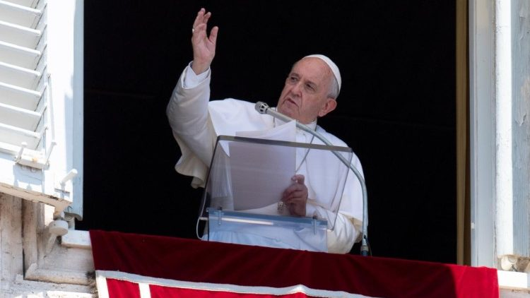 Pope Francis during the Angelus