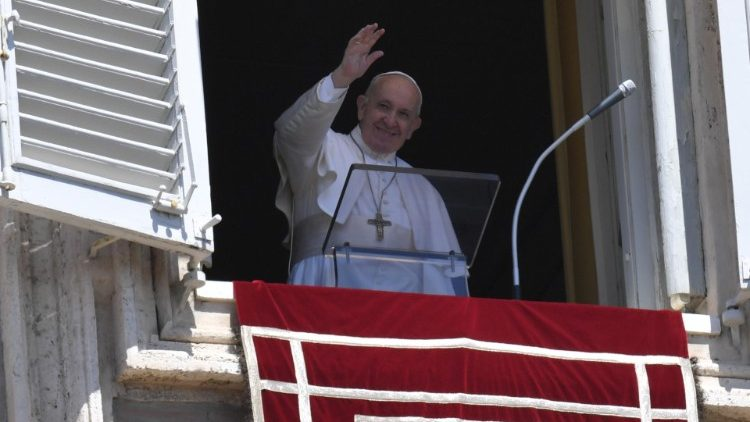 Pope Francis during the Sunday Angelus