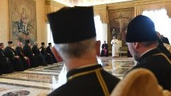 Pope Francis receives bishops of the Ukrainian Greek-Catholic Church in the Vatican