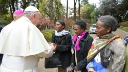 Pope greets ladies helped by Apostolic Nunciature in Madagascar