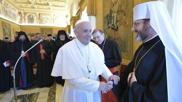 2019.09.14 Papa Francesco - Udienza ai Vescovi Orientali Cattolici in Europa