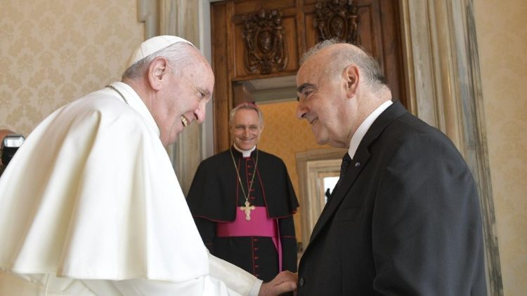 Pope Francis receives President George Vella on Malta