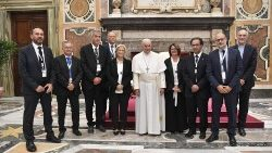 Pope Francis with the members of the Italian Union of the Catholic Press
