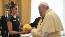 Pope Francis receives athletes from the Italian Gymnastics Federation