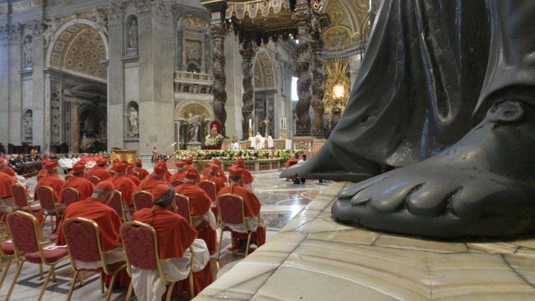 Messe du consistoire du 5 octobre 2019, dans la basilique Saint-Pierre.