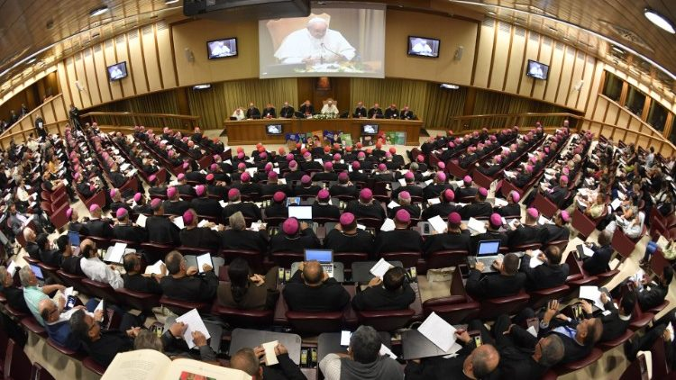 The Synod Hall inside the Vatican
