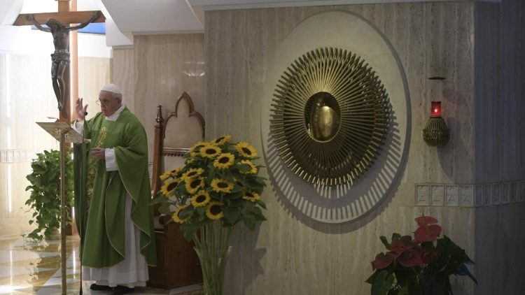 Papa Francisco na missa na Capela da Casa Santa Marta