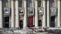 Pope Francis presides over a Canonization Mass in St. Peter's Square