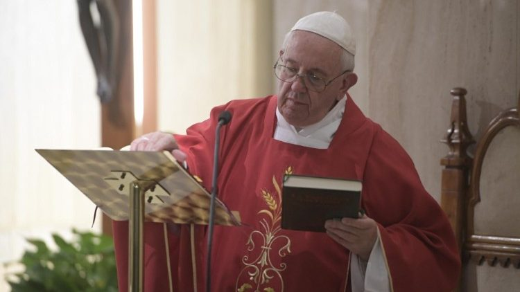 Pope celebrates Mass at Santa Marta