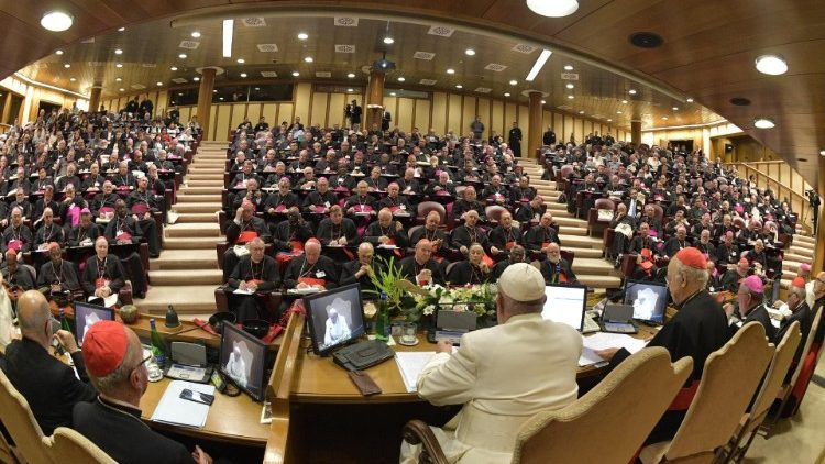 Pope Francis addresses the Synod of Bishops at the closing session