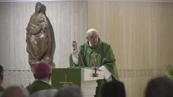 from the lectern of Pope Francis in Santa Marta house