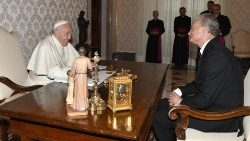 Pope Francis and Mr Gitanas Nausèda, President of the Republic of Lithuania