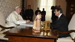 Pope Francis and the President of the Republic of Cyprus