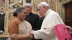 Sr. Lucy Kurien meets Pope Francis in the Vatican