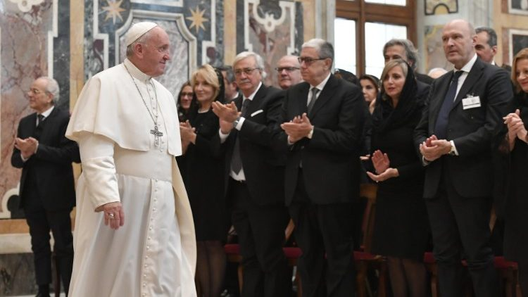 Pope Francis meets with Italy's National Notary Fund
