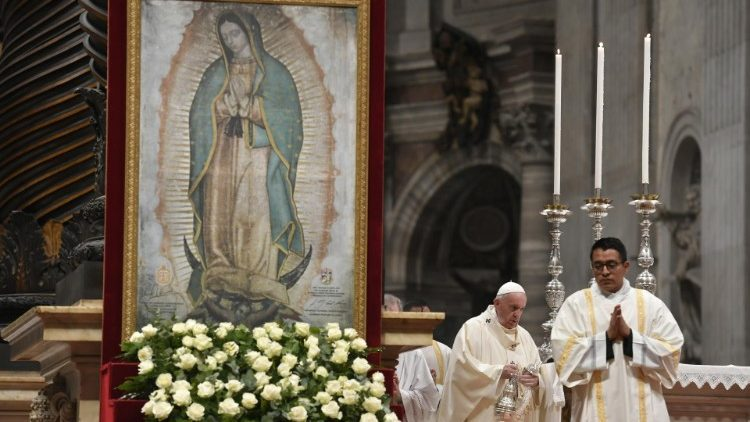 Pope Francis celebrates Mass for the Feast of Our Lady of Guadalupe