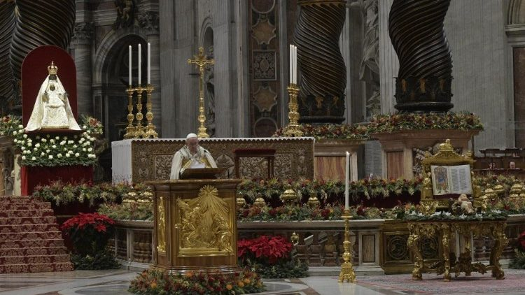 Pope Francis presides over First Vespers for the Solemnity of Mary, Mother of God