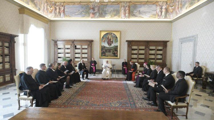 教皇フランシスコ、フィンランドのルーテル教会のエキュメニカル使節団と 2020年1月17日