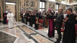 Pope Francis meets fishers from Italy's Marche region
