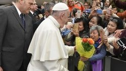 Pope at Audience: Meekness unites us, anger drives us apart