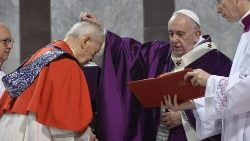 Pope Francis distributes ashes on Ash Wednesday 2020