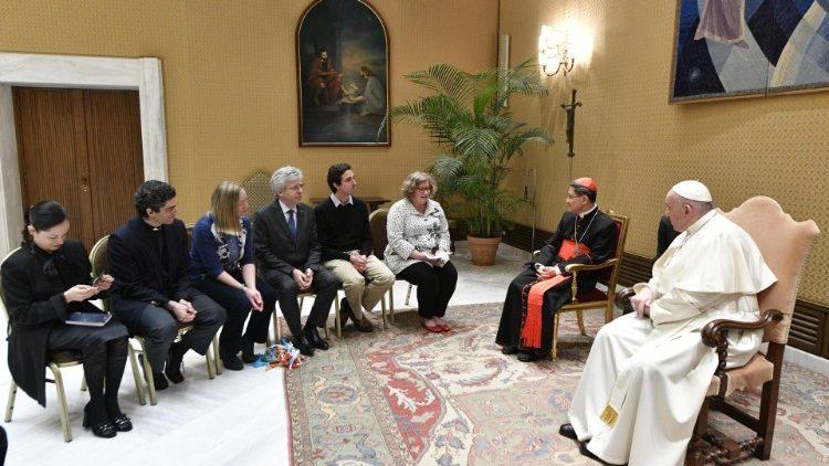 """O encontro de 27 de fevereiro entre o Papa Francisco e os membros do """"Movimento Católico Global pelo Clima"""""""