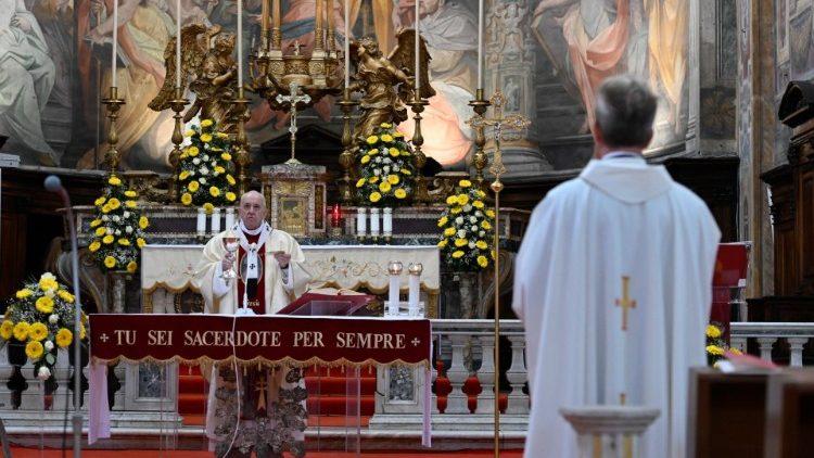 Messe de la Divine Miséricorde en 2020.